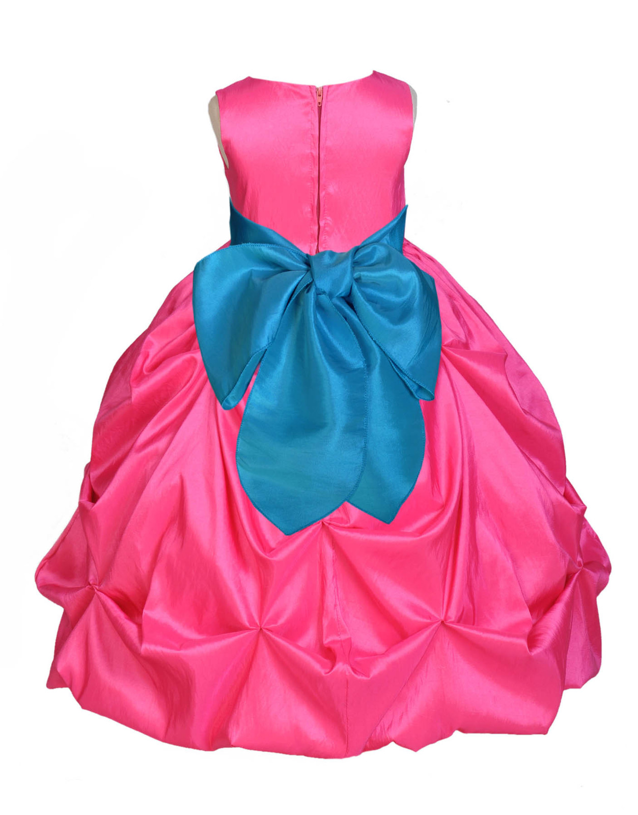 Fuchsia Taffeta Flower Girl Dress Wedding Pageant Bridesmaid Toddler 301S
