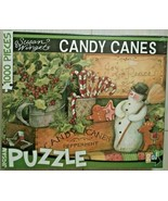 Susan Winget CANDY CANES Jigsaw Puzzle 1000 Piece Christmas Holiday - $11.88