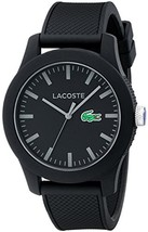 Lacoste Men's 2010766 Lacoste.12.12 Black Watch with Textured Band - $116.88