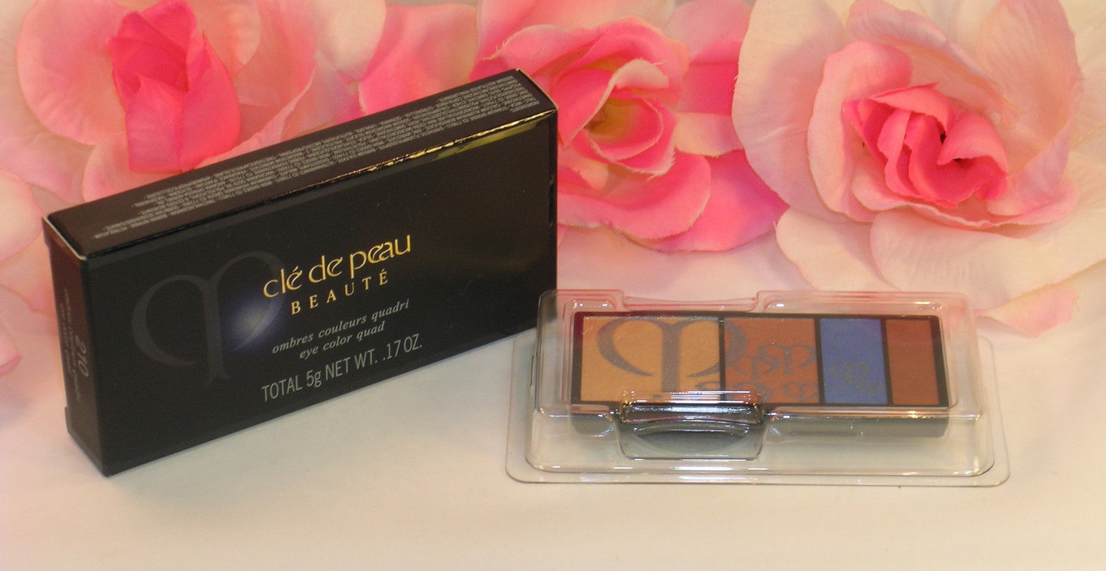 Primary image for New Shiseido Cle De Peau Beaute Eye Shadow Quad Refill #210 Colors & Highlights