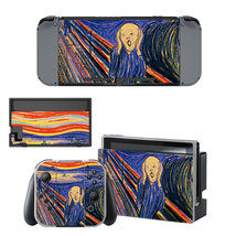 The Scream  decal for Nintendo switch console sticker skin - $15.00