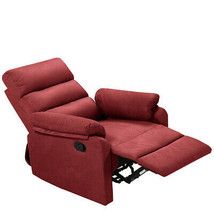 Red Recliner Fabric Lounge Sofa With Armrest Back Cushion Manual Adjuste... - $410.85