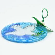 Dove Religious Fused Art Glass Ornament Sun Catcher Handmade Ecuador image 3