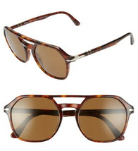 Persol Aviator Sunglasses Havana Brown Polarized Glaze $310 Unisex 54-20... - $168.30