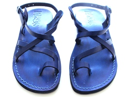 Leather Sandals for Men and Women TEL AVIV by SANDALIM Biblical Greek Su... - $39.44 CAD+