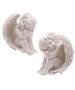 Decorative Seated 17cm Cherub Ornament Resting Head on Knee Gift Present... - $29.02