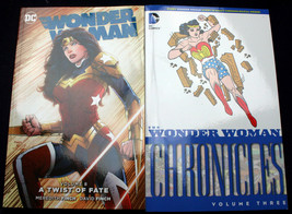 Lot 2 Wonder Woman CHRONICLES Vol. 3 1943 archives A TWIST OF FATE Finch... - $37.78
