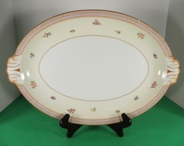 """Meito China Asama Shape MEI299 Handled Large Oval Serving Meat Platter 17"""" - $49.45"""
