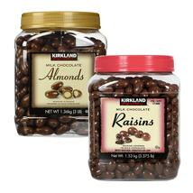 Milk Chocolate Covered Roasted Almonds or Raisins KIRKLAND Signature 1.36/1.53kg - $55.92+