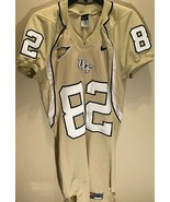 UCF Knights #82 NCAA C-USA Patch Nike Central Florida Black Gold Long Je... - $148.49