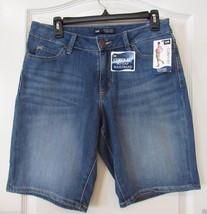 LEE Curvy No Gap Waist Bermuda Shorts BLUE Women's Sz 6M NWT MSRP $44 VE... - $25.48