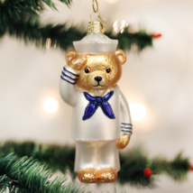 Old World Christmas Navy Bear Soldier Veteran Patriotic Xmas Ornament 12404 - $13.88