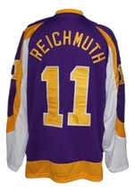 Custom Name # NY Golden Blades Retro Hockey Jersey Reichmuth Purple Any Size image 2