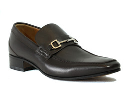 NIB GUCCI 256345 Men's Leather Horsebit Slip on Shoes, Brown 6G/7US - $287.10