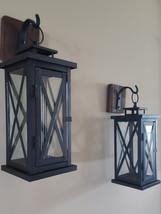 Set of 2 Medium Rustic Wall Mounted Lantern Sconces - €37,97 EUR+