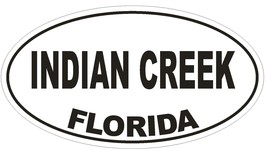 Indian Creek Florida Oval Bumper Sticker or Helmet Sticker D2675 Decal - $1.39+
