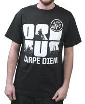 Orisue Hombre Negro Blanco Carpe Diem Unión Working Industria Camiseta Medio Nwt