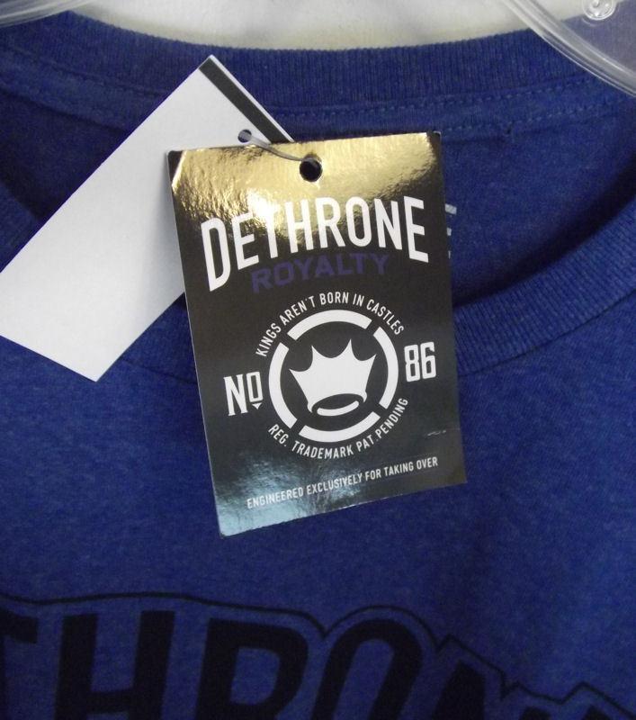 Deathrone Base Camp Shadow T Shirt Men's XXL Royal Heather 2XL Cotton Poly NWT