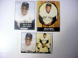 Lot of (3) 2003 Bowman Heritage Willie Mays Baseball Cards-#171-ex/mt - $6.50