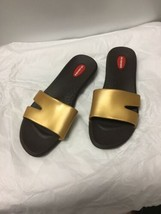 Okabashi GOLD SANDALS WOMEN'S SIZE L Made In The U.S.A. - $15.83