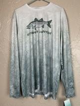 444 Sportswear Long Sleeve Performance Shirt UPF 50+ Striper Hunter Size XL - $26.14