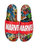 Marvel Red Label with Comic Scene Sandal Slides Multi-Color - $31.98