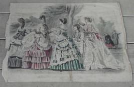 Vintage Les Modes Parisiennes, Peterson's Magazine Fashion Plate Print J... - $19.79