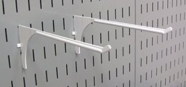 Wall Control Pegboard 9in Reach Extended Slotted Hook Pair - Slotted Metal Pegbo image 11