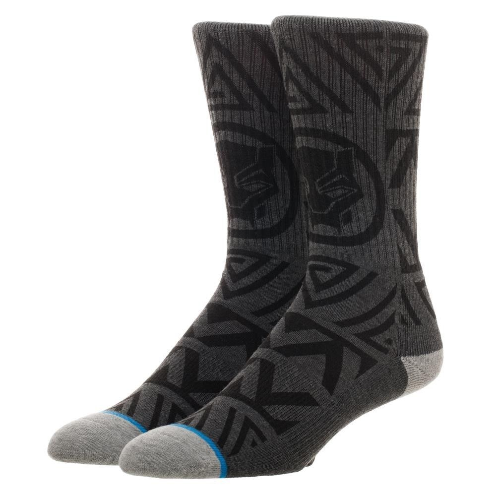 The Black Panther Marvel Comics Waterprint Knit Adult Crew Socks