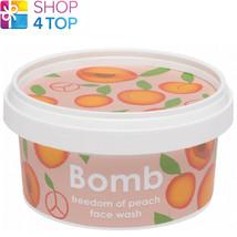 Freedom Of Peach Face Wash 210 Ml Bomb Cosmetics Bergamot Mandarin Natural New - $12.46