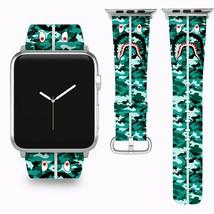 Bape Shark Apple Watch Band 38 40 42 44 mm Series 1 - 5 Fabric Leather Strap 3 - $29.97