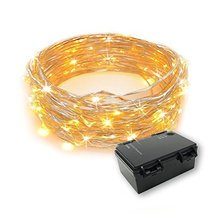 RTGS 60 Warm White Color LED String Lights Battery Operated on 20 Feet L... - $3.88