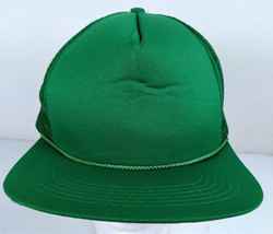 Vintage 80s Foremost Early New Era Basic Solid Green Mesh Trucker Snapba... - $16.00
