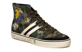 POLO Ralph Lauren SOLOMON SK VLC Sneaker HI-TOPS Shoes Canvas Olive Camo... - $149.12