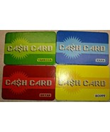 Mall Madness Milton Bradley 2004 Set of 4 Cash Cards Red Yellow Green Blue - $12.73