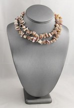 """VINTAGE POLISHED CHUNKY PINK SHELL RESORT WEAR BEACH SUMMER NECKLACE - 30"""" - $15.00"""