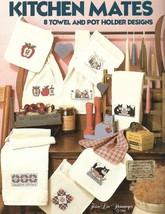 Kitchen Mates 8 Towel & Pot Holder Designs Cross Stitch Leisure Arts 488 1986 - $6.17