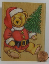 """Christmas Rubber Stamp Stampcraft Teddy Claus 440Z09 4x3""""   B8W - $8.99"""
