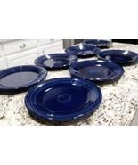 7 Vintage Homer Laughlin Fiestaware Cobalt Blue Dinner Plates (Will Sepa... - $98.28