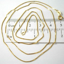 Chain Yellow Gold Or White 18K, Mini Jersey Venetian, Thickness 0.5 MM,60 CM image 2