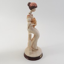 Marlo Collection by Artmark Figurine of Victorian Lady Holding a Yellow Cat image 6