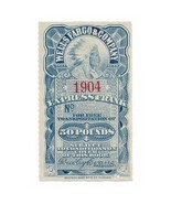 American Express Co. Complimentary Frank Stamp 1904 50lbs - $59.00