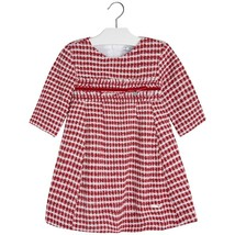 Mayoral Little Girls Wool Blend Metallic Check Plaid Dress