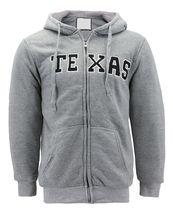 Men's Texas Embroidered Sherpa Lined Warm Zip Up Fleece Hoodie Sweater Jacket image 8