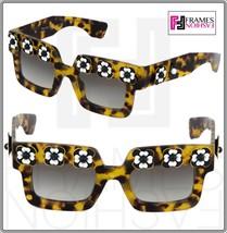 Prada Poeme Flower Chunky Square PR25PS Brown Havana Exclusive Sunglasses 25P - $475.20