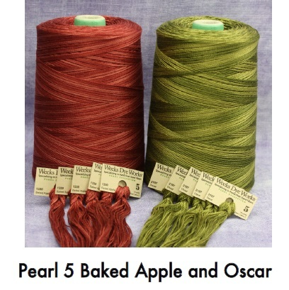 FLOSS BUNDLE WDW Pearl 5 (2 skeins total) new colors Weeks Dye Works