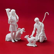 LENOX NATIVITY WHITE SHEPHERDS LAMB RAM STAFF 3 PC HARD TO FIND BOX - $105.18