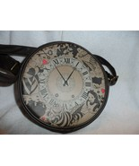 Loungefly Disney Alice in Wonderland Brown Clock Pocket Watch Shoulder Bag  - $42.00