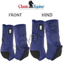 Classic Equine Legacy2 Horse Front Hind Sports Boots 4 Pack Navy U-02NV - $173.98