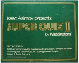 Isaac Asimov Presents SUPER QUIZ II (Second Edition)  (NIB) - $14.95